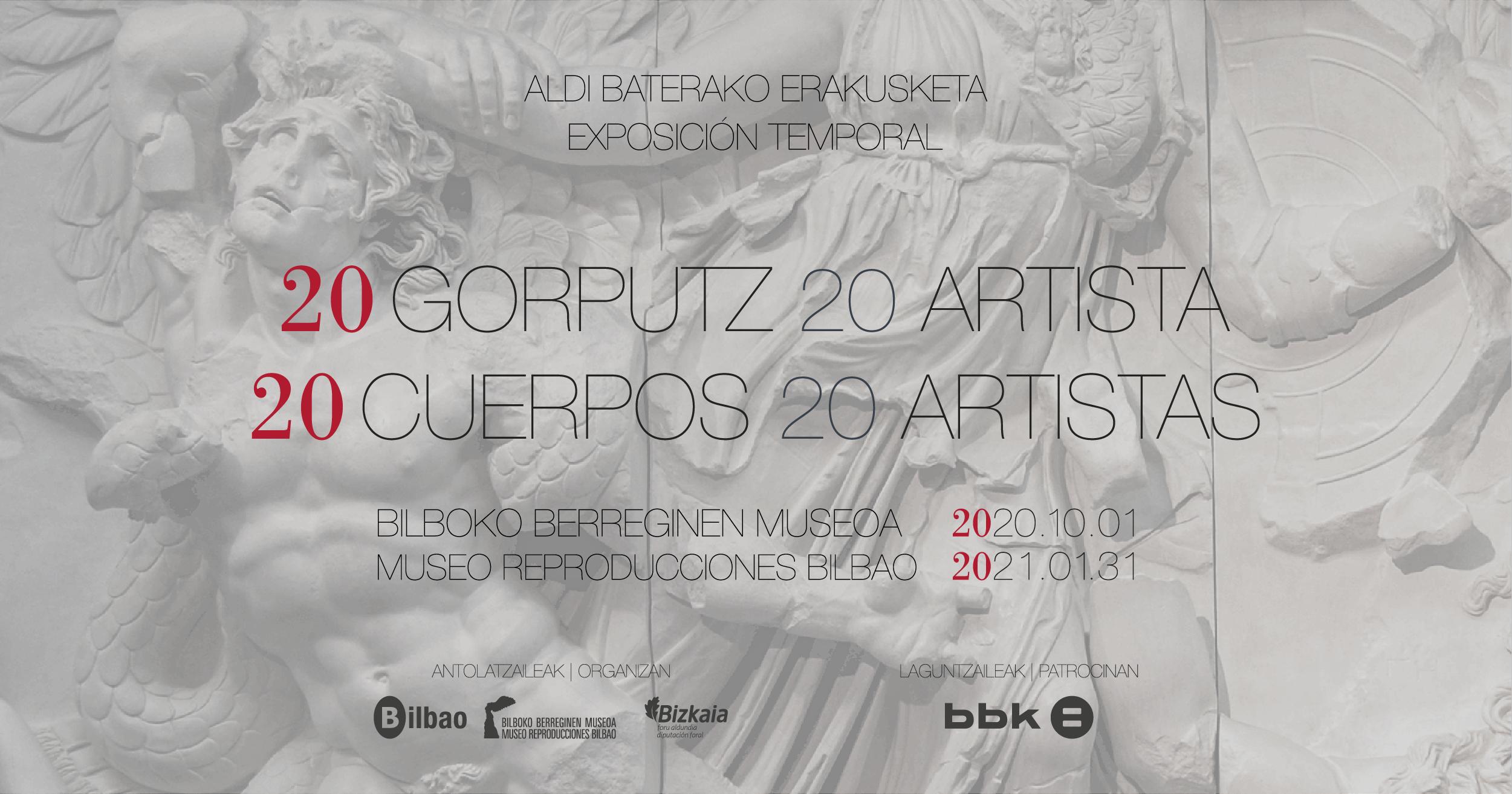"""El Museo de Reproducciones de Bilbao inicia su temporada expositiva mostrando """"20 cuerpos y 20 artis"""