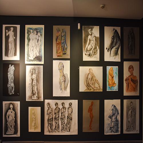 Exposición de las/os alumnas/os del curso de dibujo y pintura
