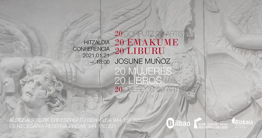 """Bilboko Berreginen Museoak berriz ere hartuko du Josune Muñozen """"20 emakume 20 liburu"""" hitzaldia"""